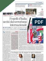 Fratelli d'Italia uccisi dal terrorismo internazionale