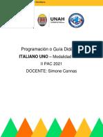 Programación Didáctica-II PAC 2021-Italiano 1