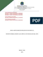 Regulamento Didático-Pedagógico do Ensino no IFPA