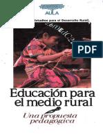 Educación para el medio rural Propuesta Pedagogica