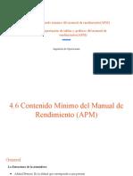 Contenido mínimo del manual de rendimiento(APM)