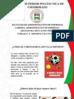 DEPORTE Y EL COVID-19