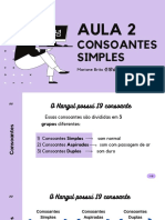 Aula 2 - Consoantes Simples