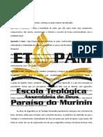 Introdução a Teologia ETADPAM