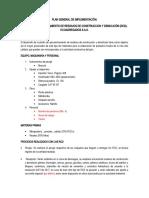 PLAN GENERAL DE IMPLEMENTACIÓN PLANTA RCD