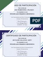 Certificado de Participación - 43 Certificados