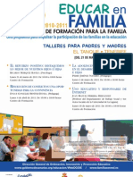 PLAN CANARIO DE FORMACIÓN PARA LA FAMILIA - EDUCAR EN FAMILIA - EL TANQUE