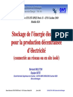 Stockage Energie Electrique