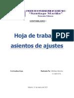 Hoja de trabajo y asientos de ajustes(contabilidad- ensayo) final
