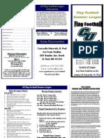 CU Flag Football Brochure