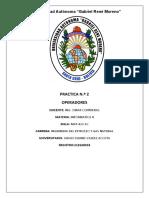 PRACTICA Nº 2INFORMATICA  II(VALDEZ ACOSTA SERGIO DANIEL)