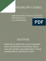 Spektroskopi Visibel Ppt Jadi