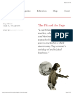 the pit and the page - creative nonfiction