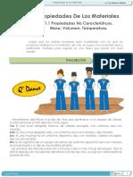 1.1 PROPIEDADES DE LOS MATERIALES. Propiedades No Características