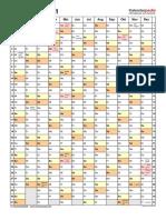Kalender 2021 Hochformat 1 Seite