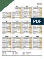 Kalender 2021 Querformat Jahresuebersicht