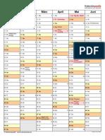 Kalender 2021 Hochformat 2 Seiten