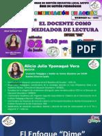 PPT El Docente como mediador de lectura - Enfoque Dime - Comunic en Acción Rode HM