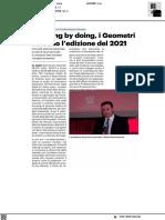 Learning by doing. I Geometri vincono l'edizione 2021 - Il Resto del Carlino Ancona del 1 giugno 2021