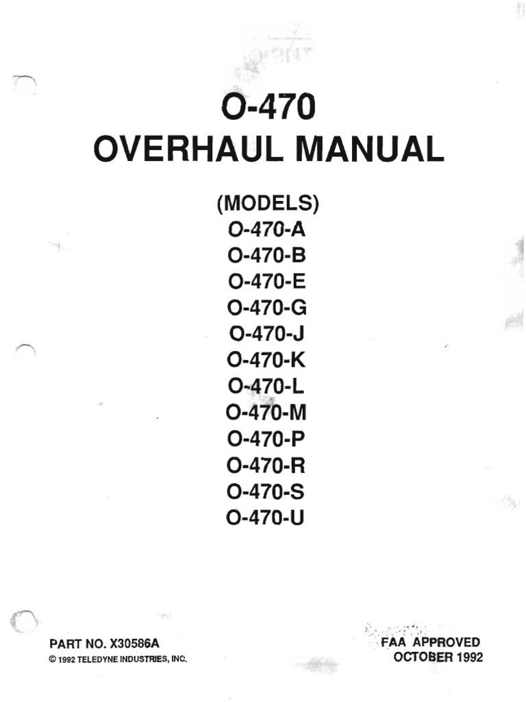 O-470 Overhaul Manual
