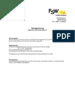 Beitragsordnung FSW