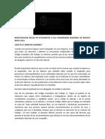 INVESTIGACION HECHA PR ESTUDIANTES D ELA UNIVERSIDAD NACIONAL DE BOGOTA MAYO 2021