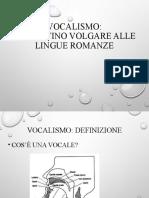 Vocalismo