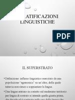4. Stratificazioni linguistiche 2