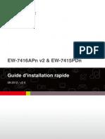 Edimax Ew-7415pdn 7416apn v2 Qig v2.0 Fr(French)