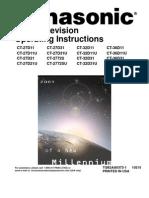 Panasonic CT27D11E Owners Manual
