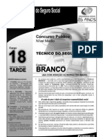 Prova do cargo 18 - Caderno Branco