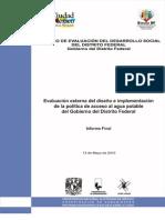 Evaluación de la política de acceso al agua en la Ciudad de México - PUEC-UNAM y EVALUA-DF