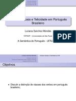 Classes Verbais e Telicidade Em Portugue