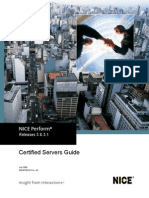Certified Servers Guide for NICE Perform Release 3