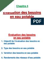 4- Evaluation Des Besoins en Eau Potable
