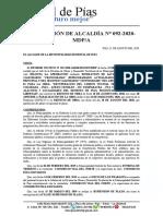 RA 092-2020-PIAS APROB CUARTO CALENDARIO VALORIZ ACTUAL CARRETERA PIAS