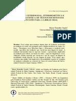Tradução Intermodal, intersemiótica e interlinguística de textos escritos
