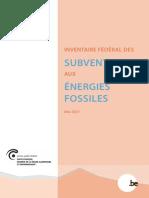 Inventaire fédéral des subventions aux énergies fossiles (rapport complet - 2021)