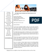 HEAL Utah's letter to the Governor