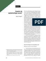 Krieger N. 2002. Glosario de epidemiologia social
