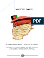 Afghanistan Stability - Comparison of a Document Presented to General McChrystal in Summer 2009 With Cartographies Generated By Globe-Expert