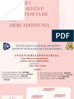 UNIDAD 1.- NATURALEZA E IMPORTANCIA DE LA MERCADOTECNIA
