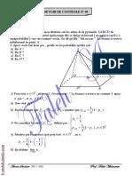 Devoir de contrôle N°3 - Math - Bac Tech (2009-2010) Mr Abdessatar El Faleh