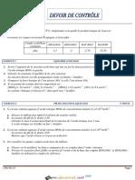 Devoir de Contrôle N°2 Lycée pilote - Sciences physiques - Bac Technique (2012-2013) Mr Imed RADHOUANI