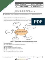 Devoir de Contrôle N°3 - Génie mécanique barrière automatique - Bac Technique (2011-2012) Mr Bakini noomen