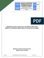 Lineamientos Para Aislamiento Domiciliario