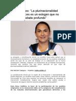 """Rosa Catrileo """"La plurinacionalidad muchas veces es un eslogan que no aborda el debate profundo"""""""