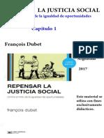 Dubet - Repensar la justicia social