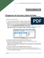 Práctica 12 Asignación de Secciones y Bases de Datos