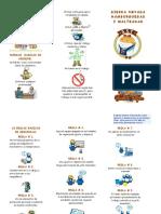 FOLLETO DE 10 REGLAS BASICAS DE SEGURIDAD Y NORMAS BASICAS  DE HIGIENE